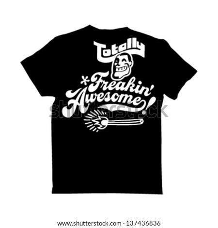 typography t-shirt design - stock vector