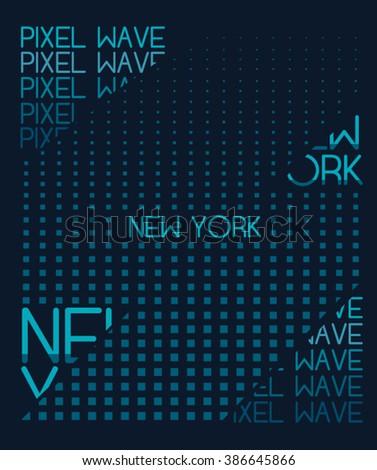 typography, t-shirt graphic, vectors - stock vector