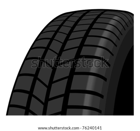 Tyre detail - stock vector
