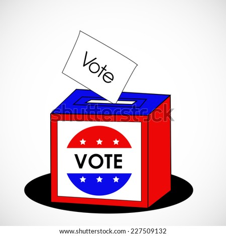 U.S.A Election Day background with Ballot Box