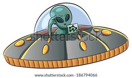 UFO  - stock vector