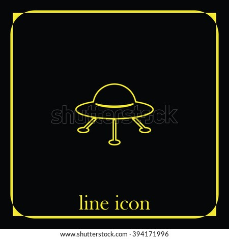 UFO Flying saucer Icon.