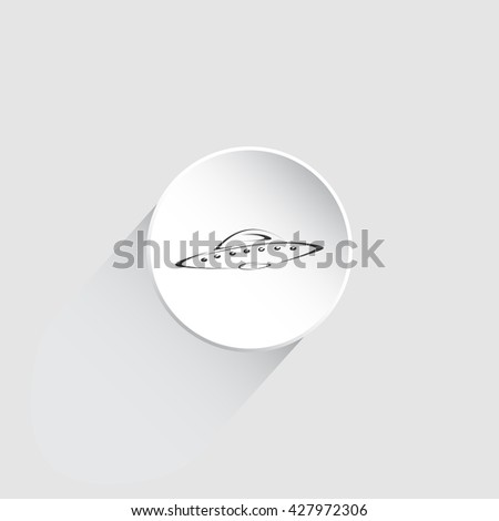 UFO Flying Saucer Icon. UFO Flying Saucer Vector. UFO Flying Saucer Vector illustration. UFO picture. - stock vector