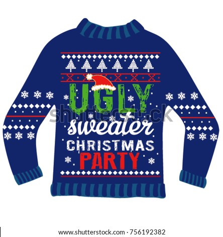 Ugly Sweater Invitation Template