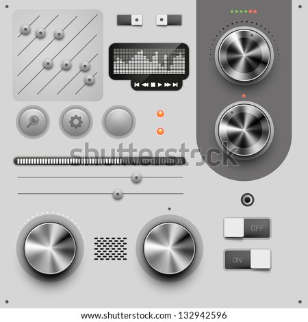 UI Design Elements vector illustration
