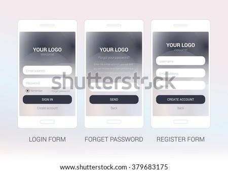 Ui Elements Your Web Design Login Stock Vector 379683175 ...