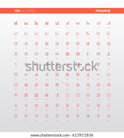 UI icons of finance banking stats, financial charts and market graphs, business solution and elements for mobile apps. 32px simple line icons set. Premium quality symbols and sign web logo collection.