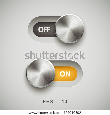 UI Kit Elements, Slider Toggle Set - stock vector