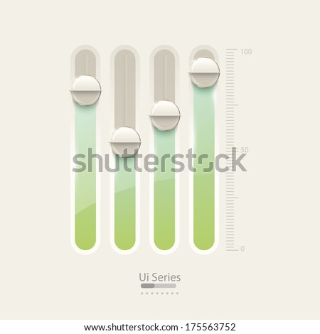 UI slider and user interface controls design. - stock vector