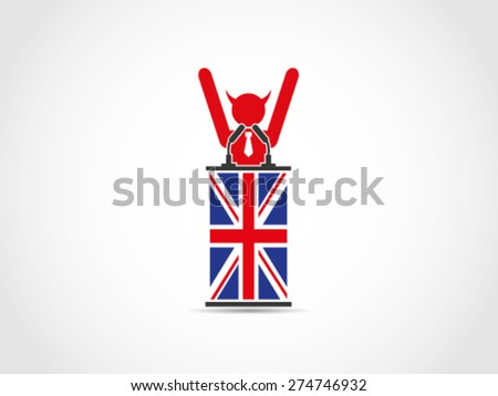 UK Britain  - stock vector