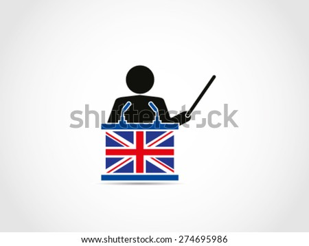 UK Britain Instruction Result Presentation Analyst - stock vector