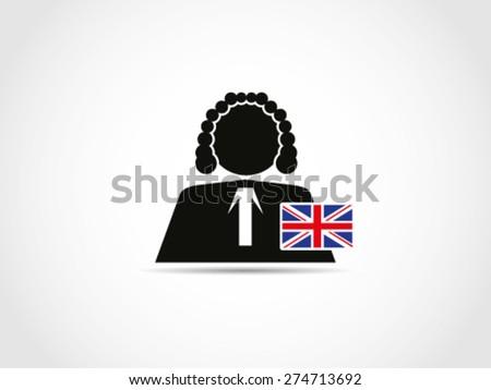 UK Britain Judge - stock vector