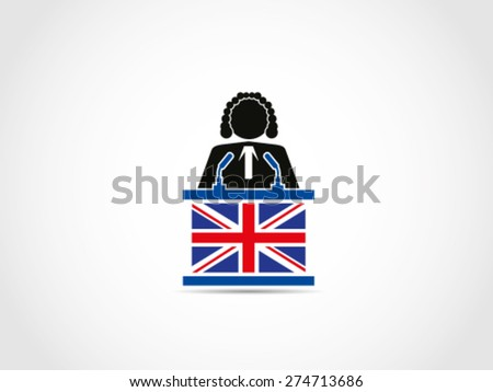 UK Britain Judge Law - stock vector