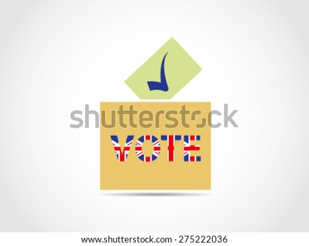 UK Britain Legislative Ballot box Voting - stock vector