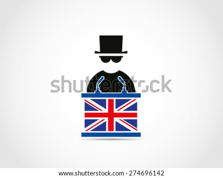 UK Britain Mafia Speech Instruction - stock vector