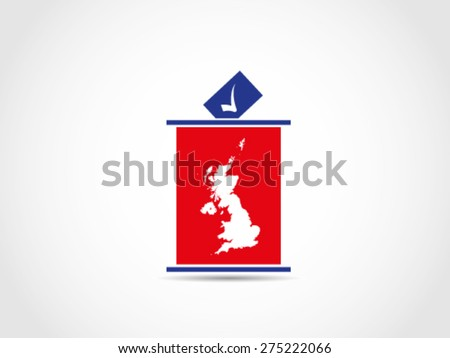 UK Britain Podium Voting Legislative - stock vector