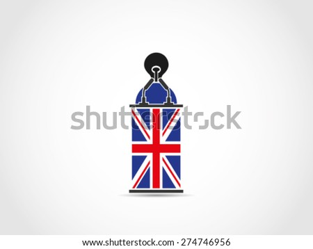 UK Britain Pointless Speech Lack Of Idea - stock vector