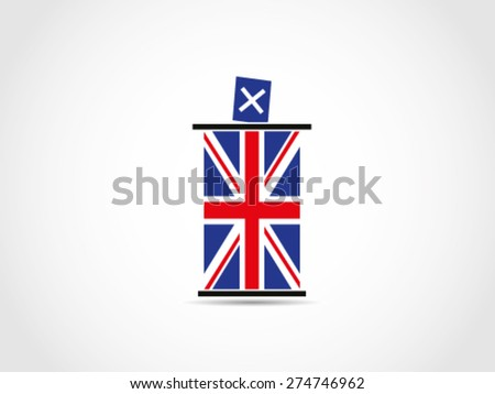 UK Britain Vote Ballot Box - stock vector