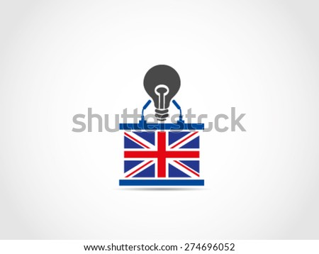 UK Britain Without Idea Solution - stock vector