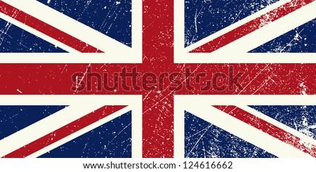 UK flag vintage - stock vector