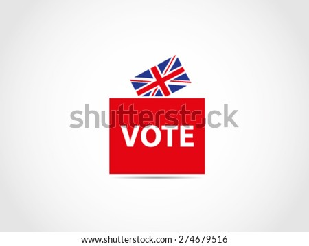 UK Great Britain Elections Ballot Box - stock vector