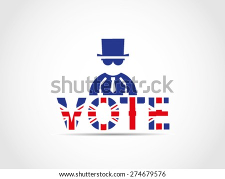 UK Great Britain Elections Mafia Manipulate Undercover Policy Power Money Corporate - stock vector