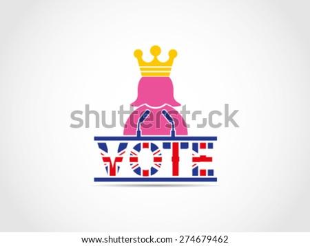 UK Great Britain Elections Queen Speech Campaign - stock vector