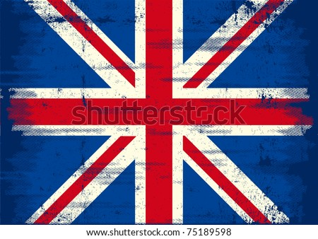 UK grunge Flag. A UK flag with a texture for you.