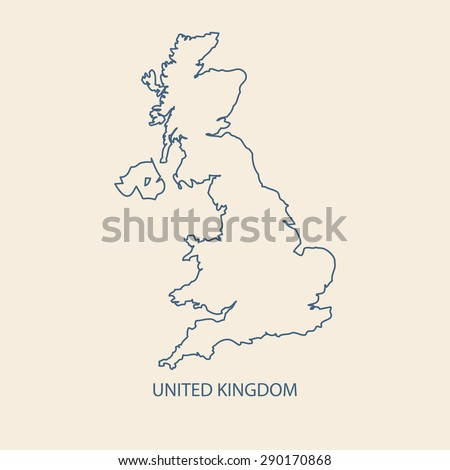 Uk Map Vector United Kingdom Map Stock Vector Shutterstock - United kingdom map vector