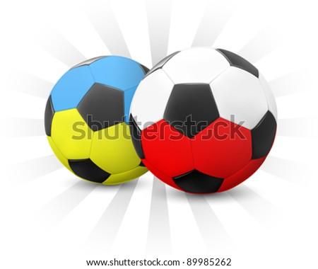 Ukraine & Poland Soccer 2012 (EPS10) - stock vector
