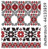 ukrainian pattern embroidery old - stock vector