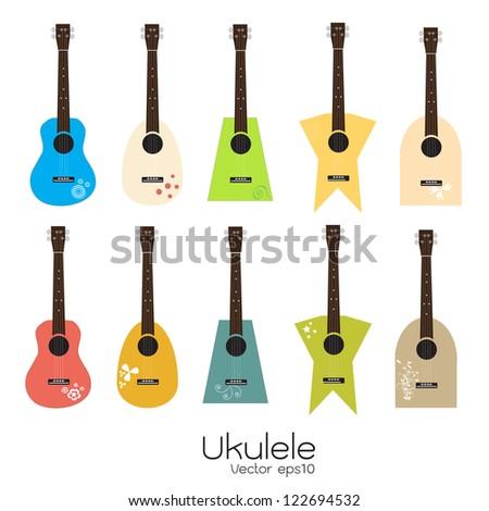 Ukulele - stock vector