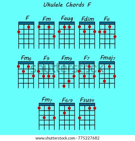 Unique Ukulele Chord F 7 Embellishment Basic Guitar Chords For