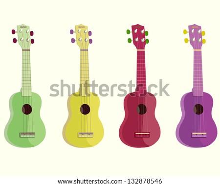 ukulele-vector illustration - stock vector