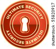 Ultimate security label. Vector illustration. - stock vector