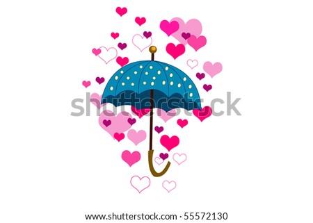umbrella and hearth - stock vector