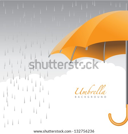 Umbrella Background. EPS 8 vector, grouped for easy editing. No open shapes or paths. - stock vector