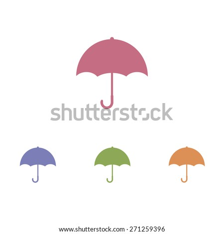 Umbrella icon on white background - stock vector
