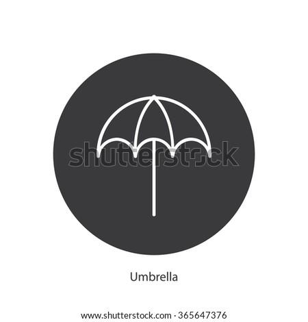 Umbrella icon/sign - stock vector