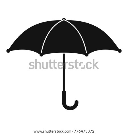 umbrella icon simple illustration umbrella vector stock vector rh shutterstock com umbrella vector eps umbrella vector free download