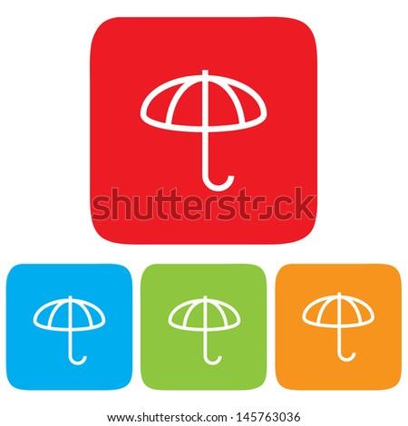 Umbrella icons, Vector illustration - stock vector