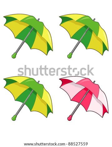 Umbrella isolated - stock vector
