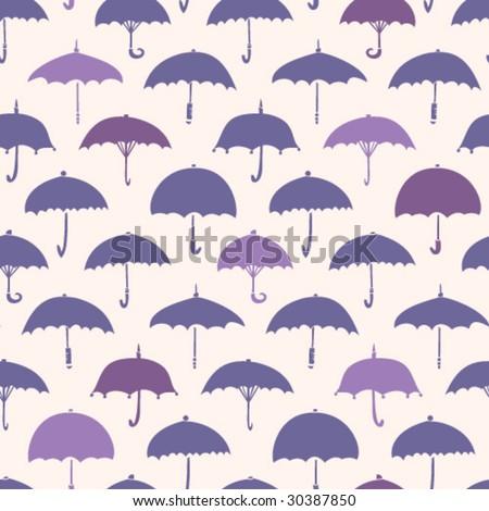 Umbrella Pattern - stock vector