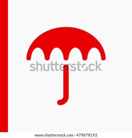 Umbrella vector icon. Rain protection symbol. Flat design style