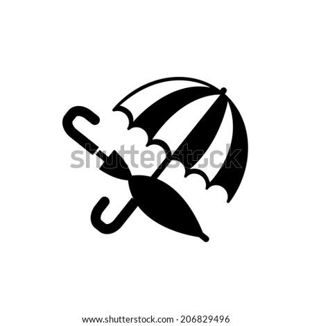 umbrellas icon - stock vector