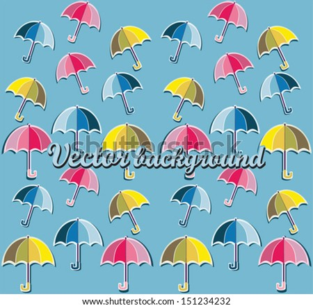 Umbrellas pattern and background
