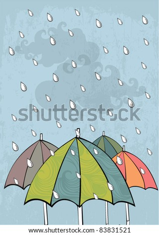 umbrellas vector/illustration