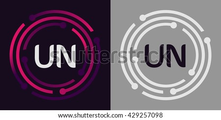 Un letters business logo icon design stock photo photo vector un letters business logo icon design template elements in abstract background logo design identity in spiritdancerdesigns Image collections