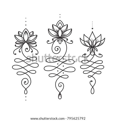 Unalome lotus flower symbol buddhism life stock vector 795625792 unalome lotus flower symbol buddhism life path sign spiritual sacred geometry image tattoo mightylinksfo