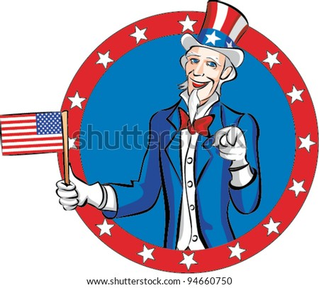 uncle sam - stock vector